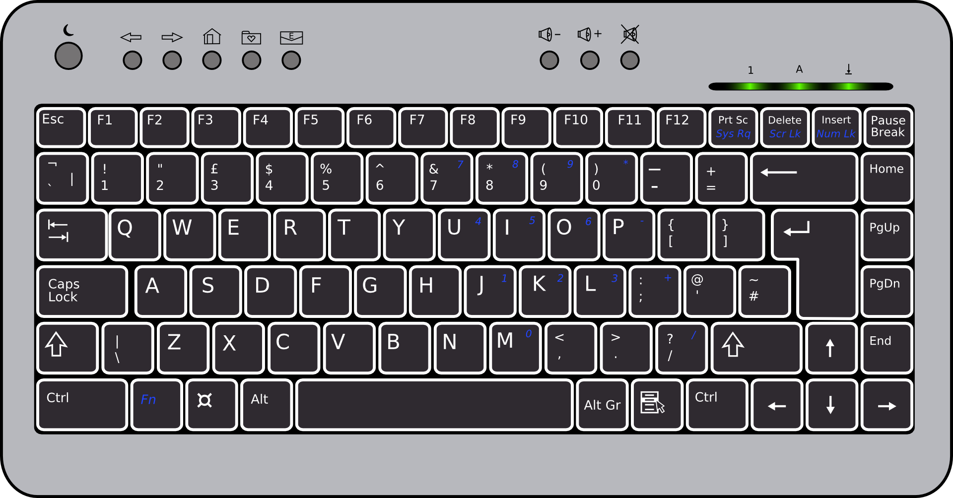 Stick drawing-Laptop keyboard vector