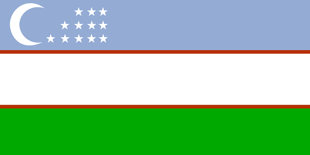 Uzbekistan Flag Free Vector