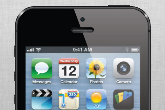 Vector illustration of iPhone 5 For app mockup