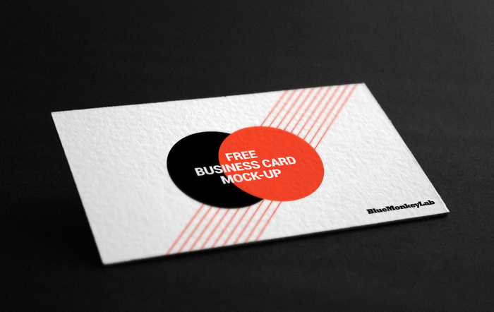 White Business Card Mockup PSD