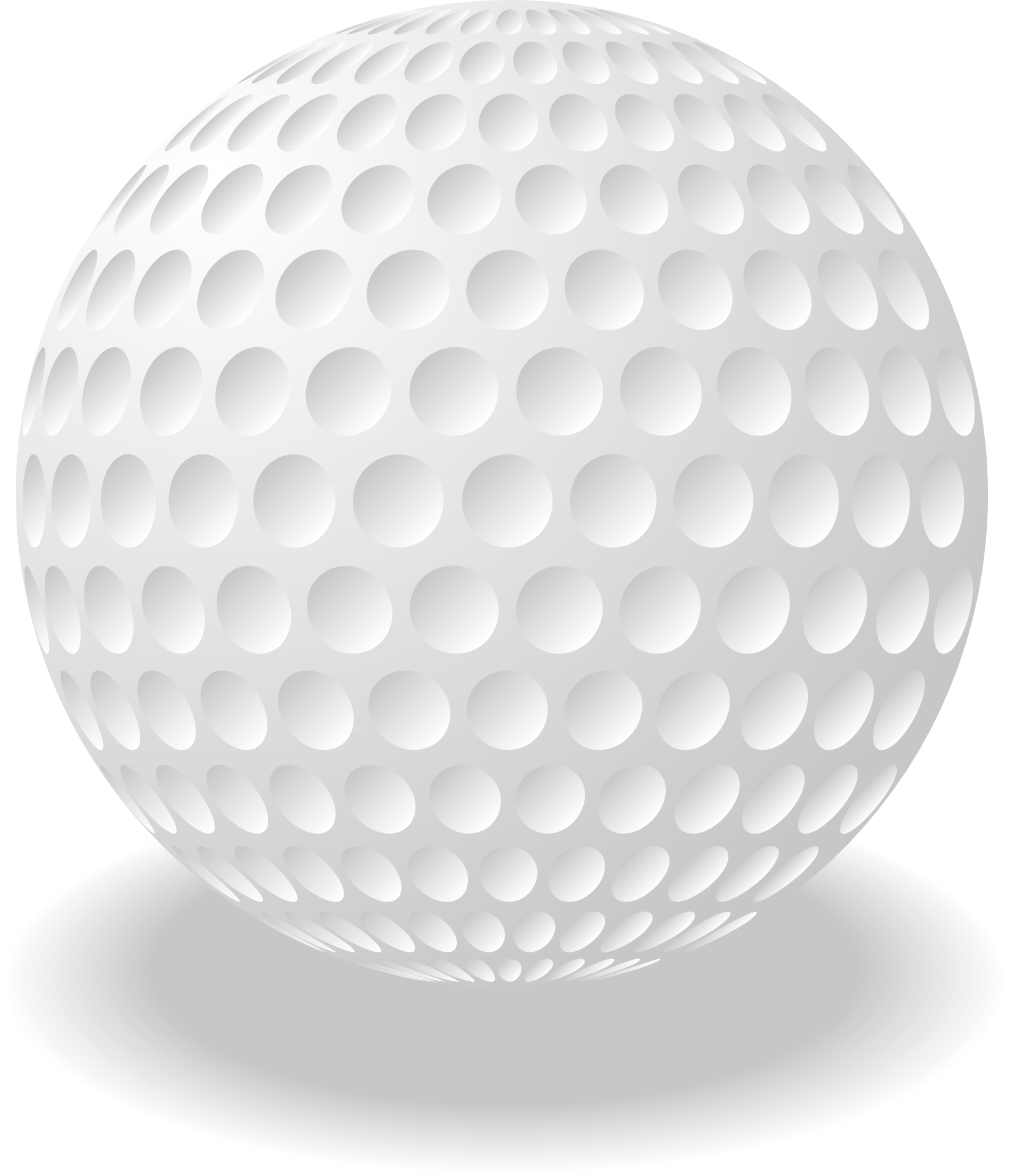 White Golf Ball Vecto