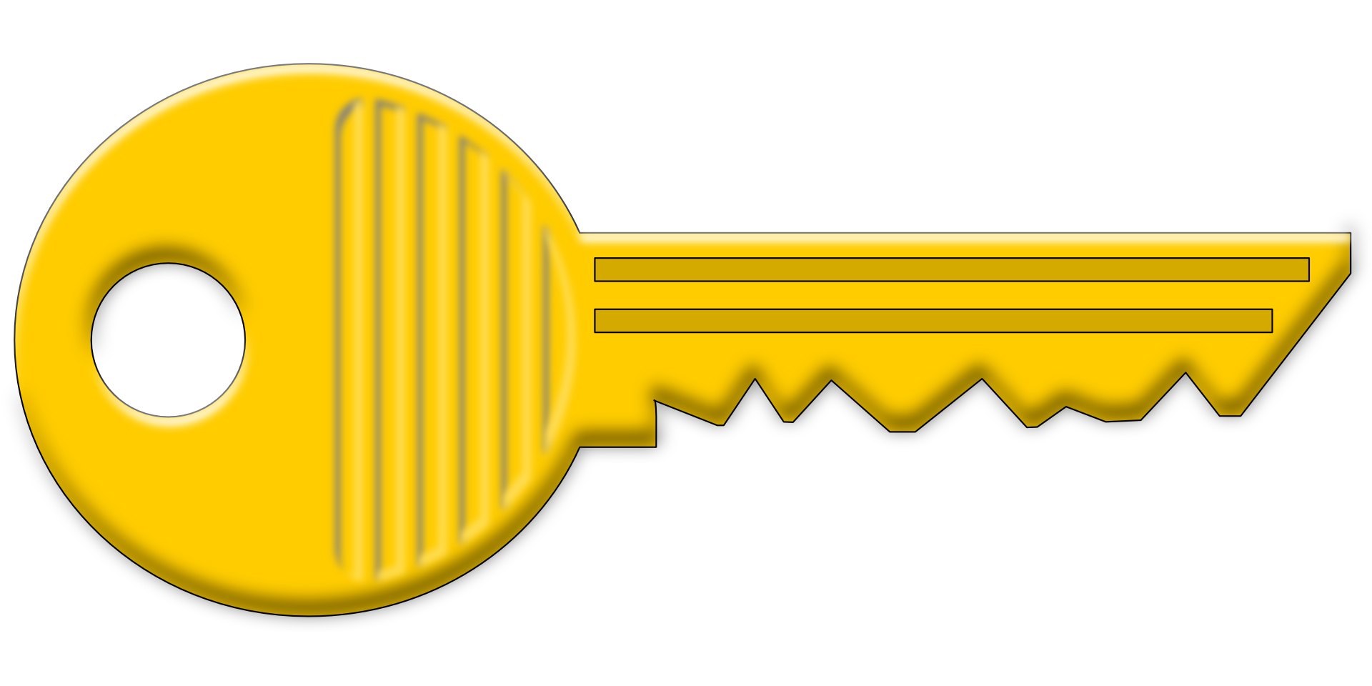 Yellow key vector