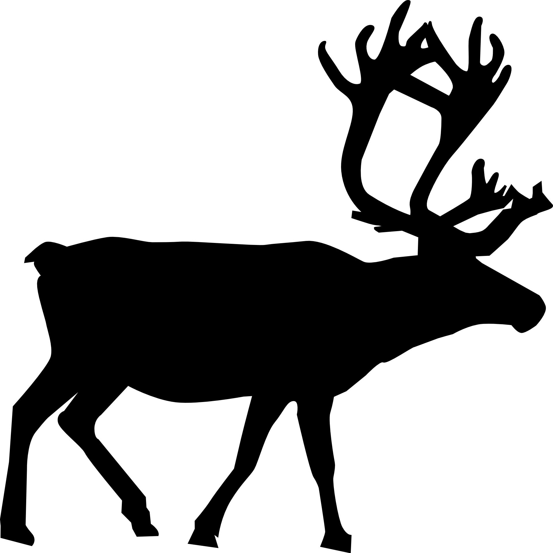 animal silhouette,reindeer vector