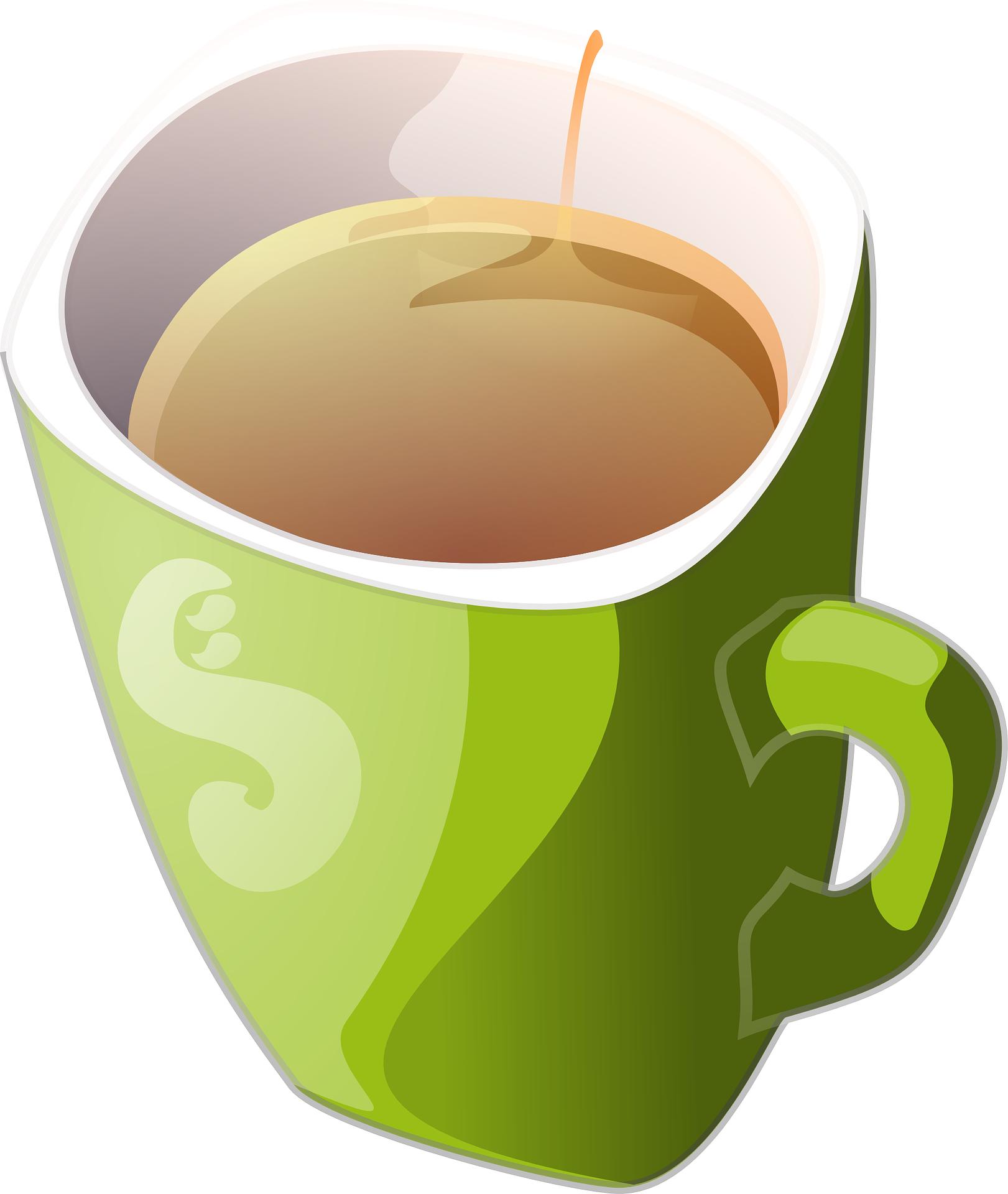 beverage-green mug,cup vector