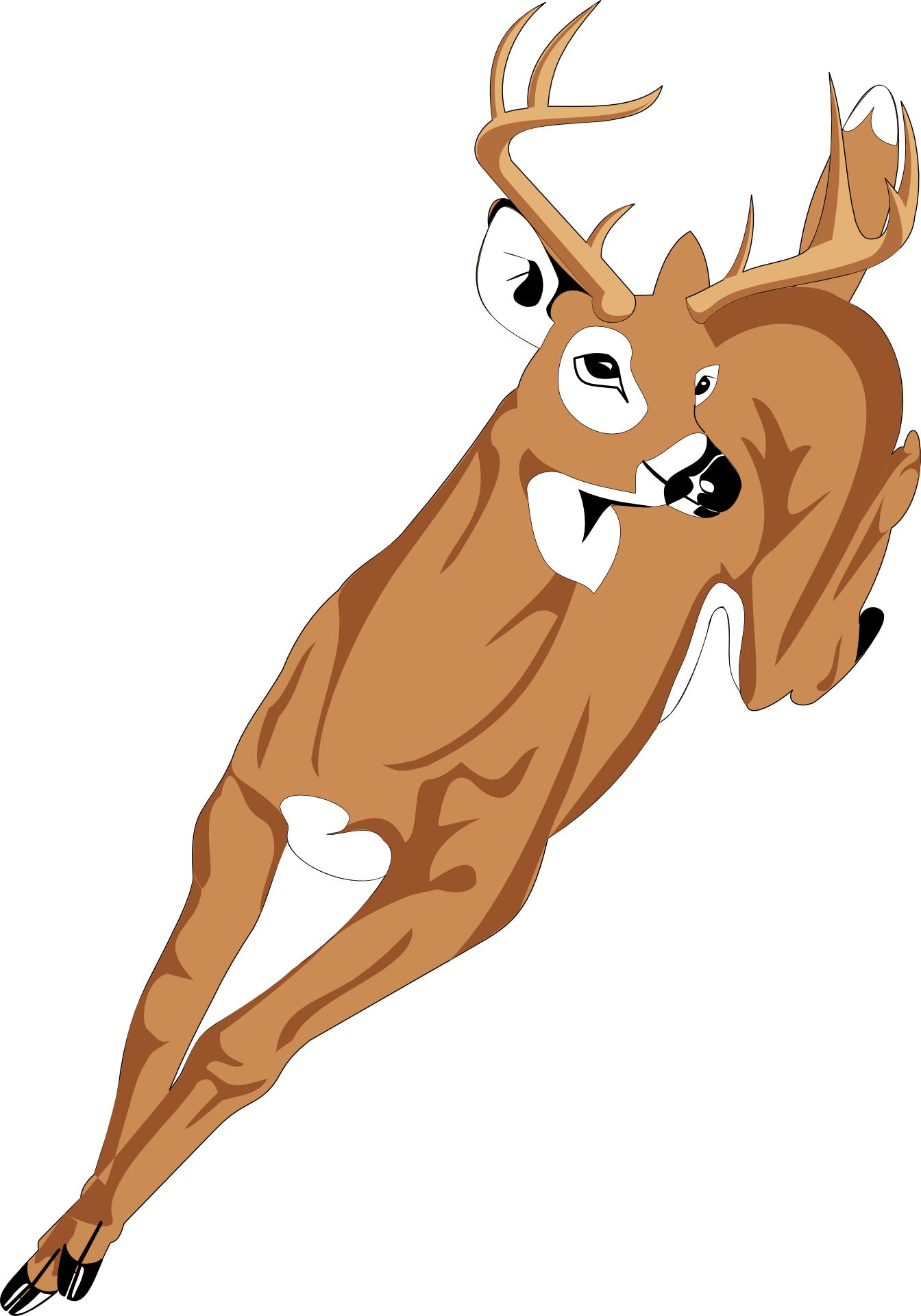 cartoon animal-running deer vectorcartoon animal-running deer vector