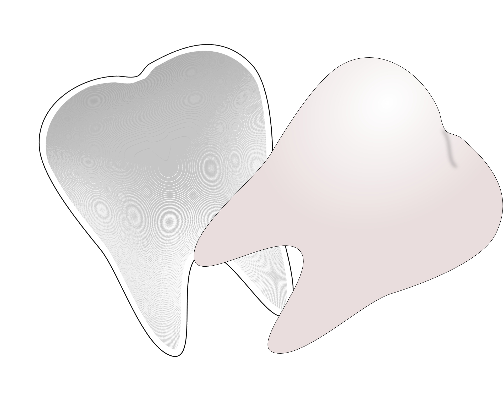 cartoon teeth, dental, molar tooth vector