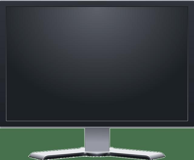 computer monitor -plasma lcd screen free vector