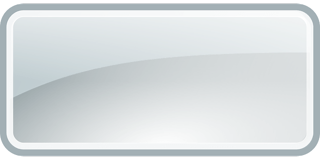 glass glossy of ui shape element-rectangle interface