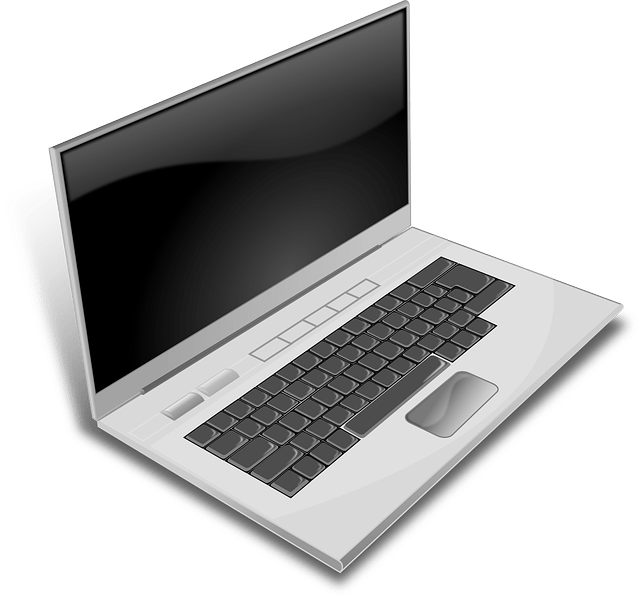 gray laptop free vector