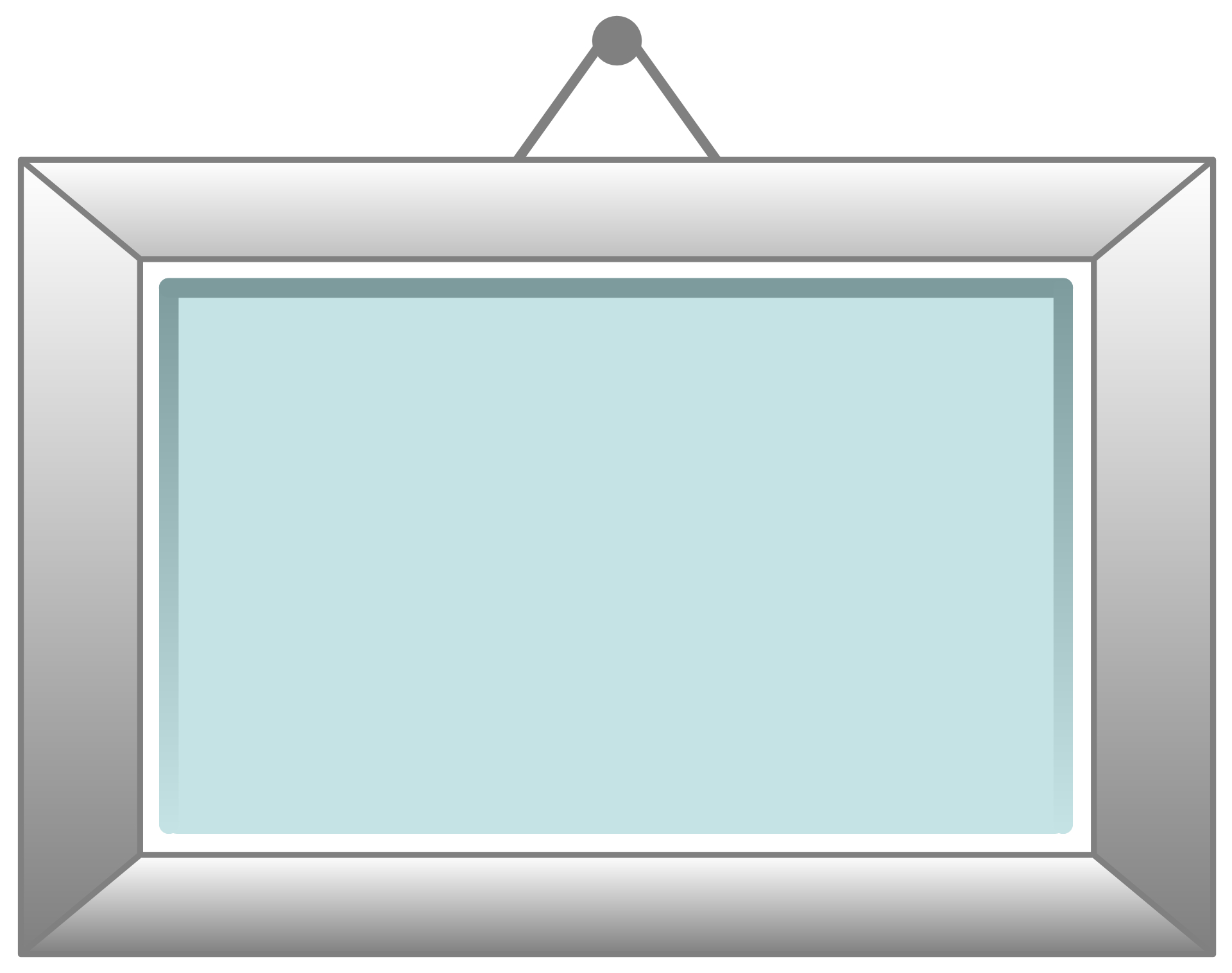 hanging wooden frame vector