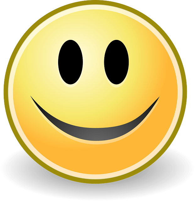 happy smile cartoon face vector