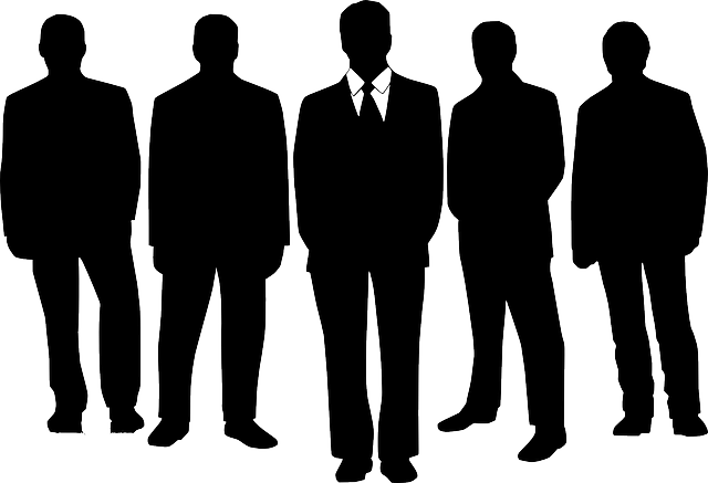 men business silhouette free vector