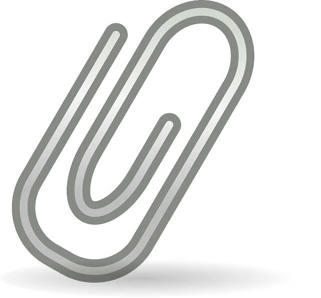 Paper-clip Free Vector