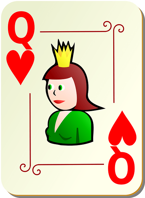 playing card Q vector