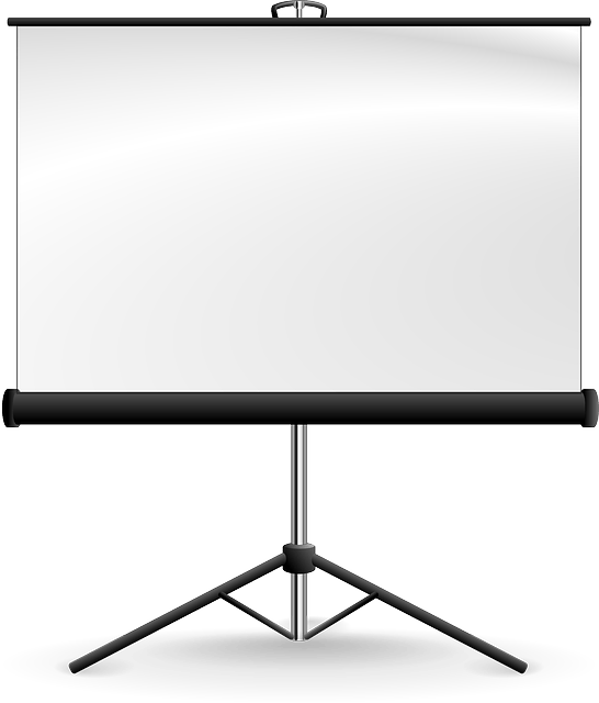 screen presentation Projector vector