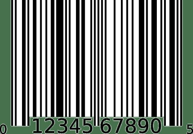 Simple bar code free vector