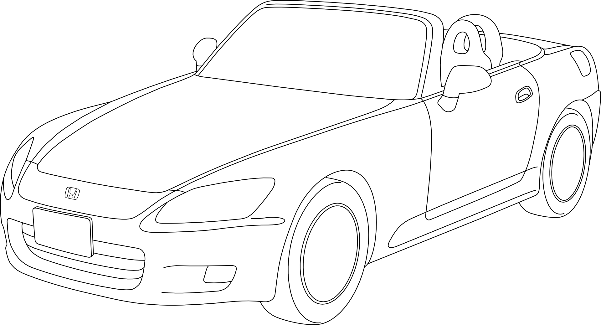 stick drawing,car vector
