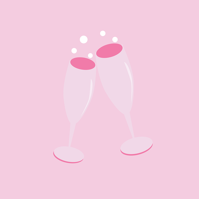 valentines champagne vector