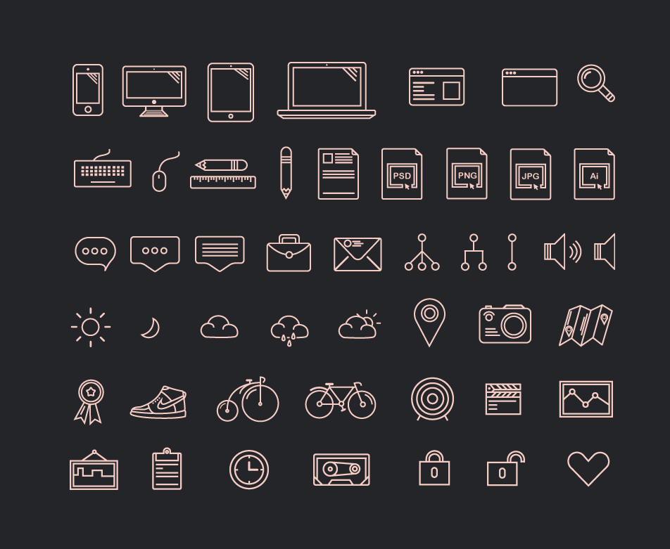 42 Free Awesome Icons Vector