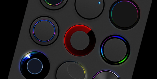 Circles Glowing light effects UI elements(PSD)