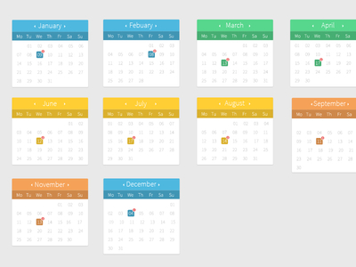 Cool and Free Calendar PSD