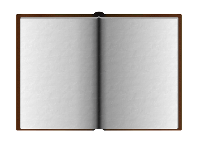 Flat-Opened book-vector