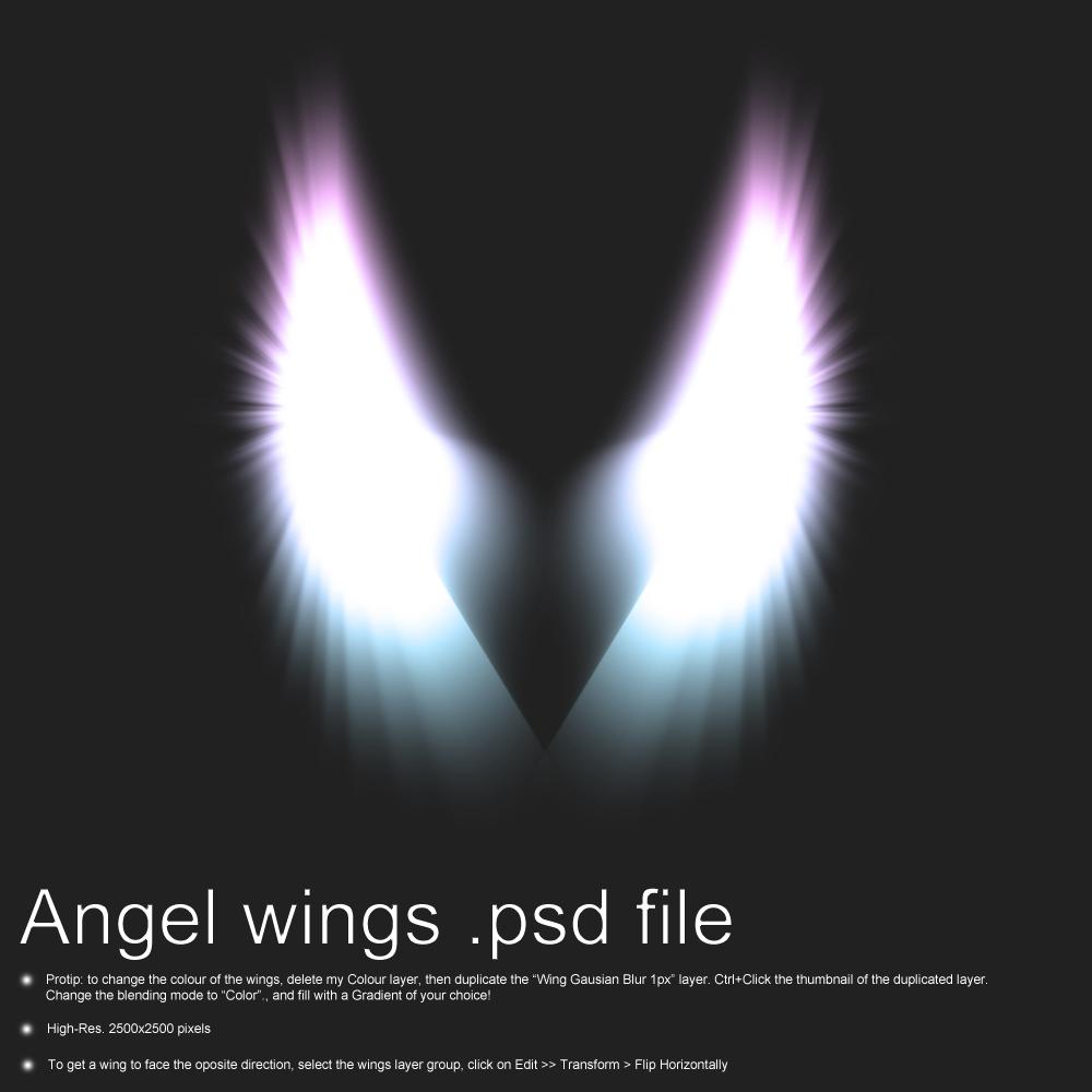 Free Angel Wings PSD File