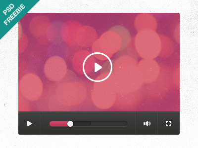 Free Clean Video Player PSD