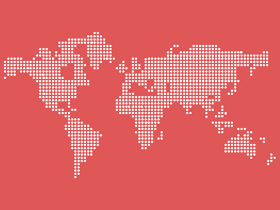 Free Dotted World Map PSD