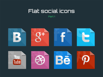 flat,social media,facebook,twitter,pinterest,youtube,google+
