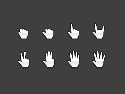 Free Hands Cursors PSD