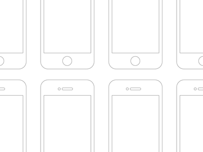 Free Mobile Flow Template PSD-Wireframe Retina