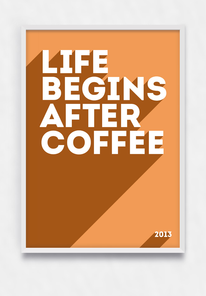 Free PSD Poster For Coffee Lover