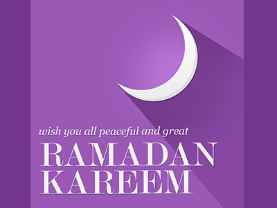 Free Ramadan Kareem-Purple Mobile Wallpaper PSD