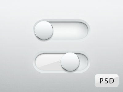Free Shiny Glossy Switches PSD