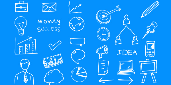 Free Vector Business Doodles PSD