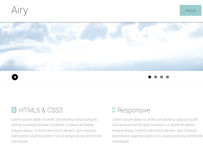 Free web framework template HTML5 CSS3