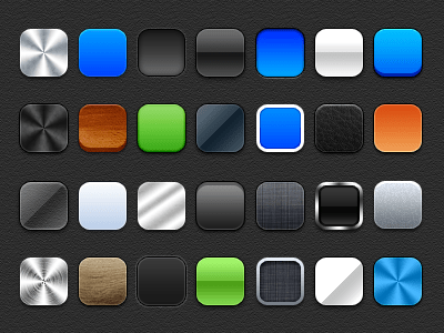 Freebie-Pack of 28 square layer styles PSD