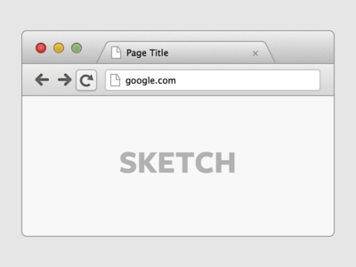 Google Chrome Browser UI (Sketch)