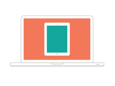 Ipad Macbook Mockup Illustrations Vector