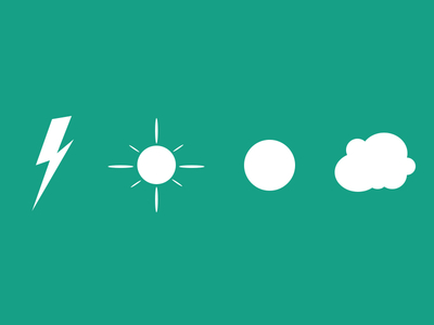 Lightning,sun,cloud,Free weather icons psd