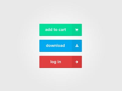 add to cart button,download button,log in button,ui design