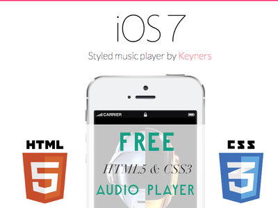 iOS7 styled music player on HTM5 / CSS3