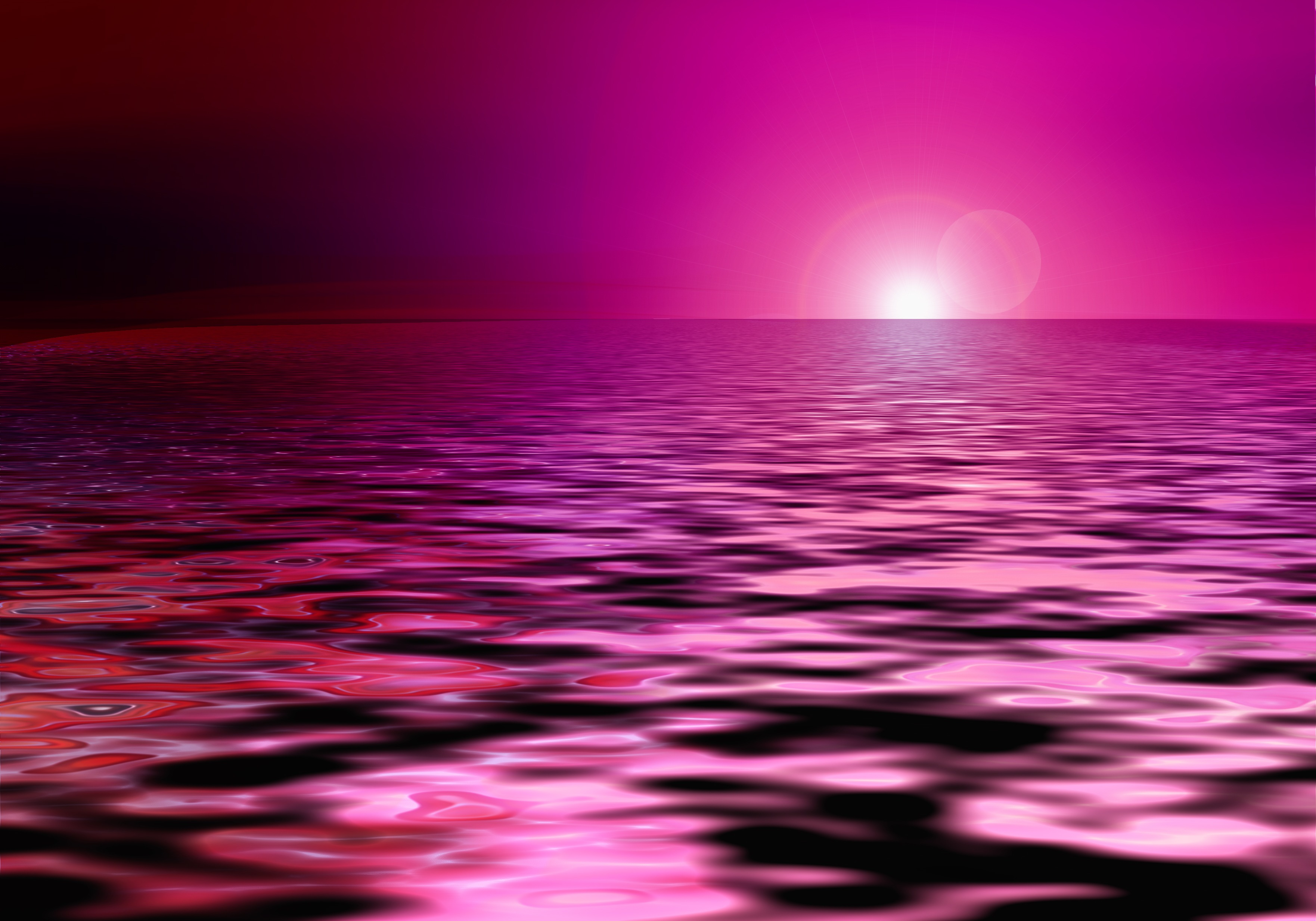 pink sparkling sea-abstract-sunset-clipart