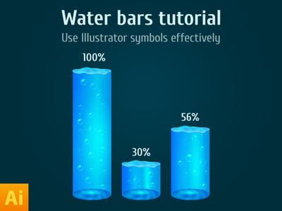 Blue Water bar histogram vector
