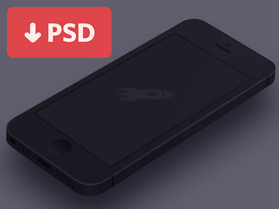 Free Black Iphone Mockup Template PSD
