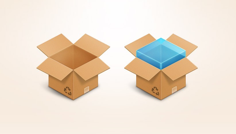 Free Box Icon Dropbox Icon PSD
