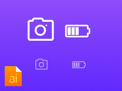 Free Camera,Battery Icon Vector (ai)