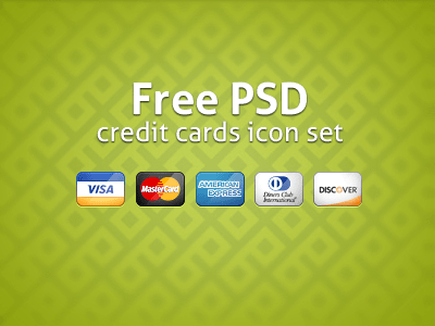 Free Credit Cards Icons PSD