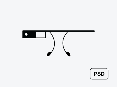 Free Google Glass Vector (AI)
